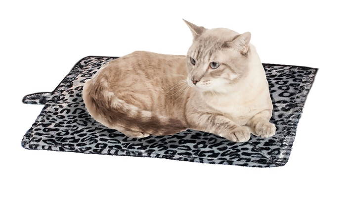 purrfect thermal self heating pet bed groupon