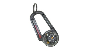 TempaComp Carabiner, Ball Compass, and Thermometer Tool