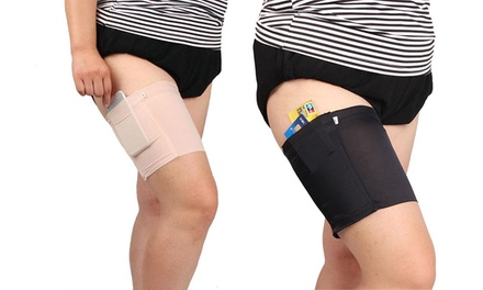 One or Two Anti-Chafing Thigh Bands with Storage Pocket