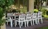 Set da giardino con 1 tavolo, 8 sedie e 2 poltrone