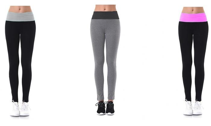 Women's Two-Tone Leggings (3-Pack)