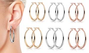 (Bijou)  Boucle d'oreilles 30 ou 40mm -57% réduction