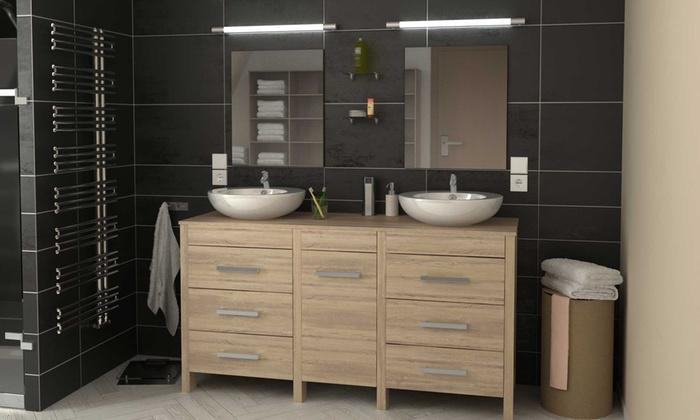 Meuble salle de bain double vasque | Groupon