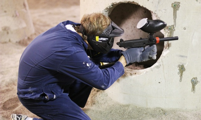 Defcon Paintball - Multiple Locations: Four-Hour Package for Two or Four with 100 Paintballs and Rental Equipment at Defcon Paintball (Up to 75% Off)