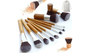 Set pinceaux maquillage bambou