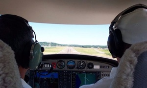 Image Aviation Services: $160 for One-Hour Flight Lesson for One with Up to Three Guests from Image Aviation Services ($320 value)