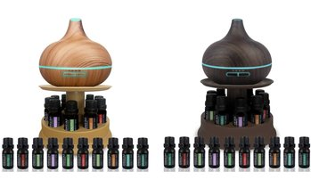 Pure Daily Care Ultrasonic Diffuser Set with Stand and Oils (12-Piece)