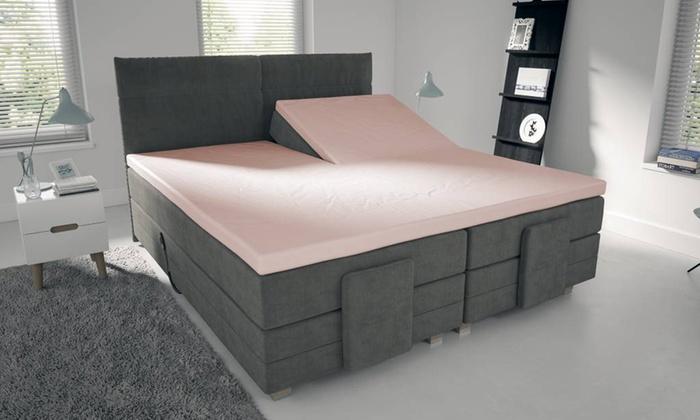 drap housse pour surmatelas groupon. Black Bedroom Furniture Sets. Home Design Ideas