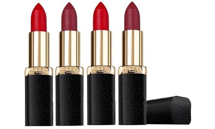 L'Oreal Paris Colour Riche Matte Addiction Lipsticks: Four ($12.95) or Eight ($19.95) (Don't Pay up to $170)