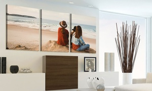 Up to 89% Off a Custom Three-Panel Canvas Print
