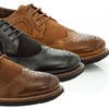 Adolfo Cole Men's Lace-Up Brogue Oxford Dress Shoes