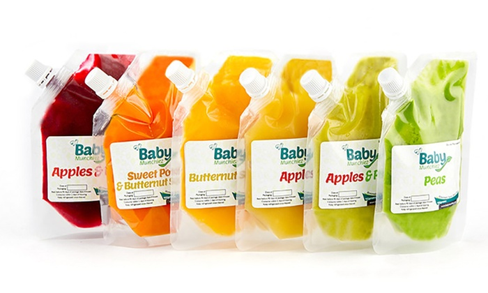 organic baby food packs baby munchiez groupon. Black Bedroom Furniture Sets. Home Design Ideas