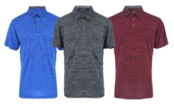 LeeHanTon Men's Soft Marled Jersey Polo (S-2XL)