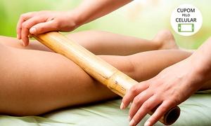 Espaço Rosa Mística: Massagem relaxante e terapêutica + reflexologia com bambu e manual para 1 ou 2 no Espaço Rosa Mística – Jd. Chapadão