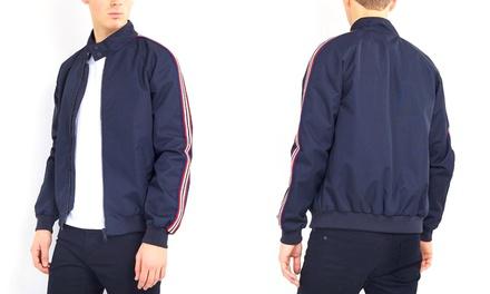 Stripe Detail Harrington Jacket