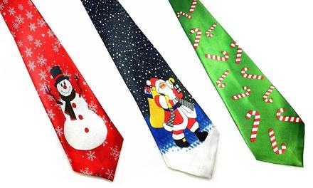 1 ou 2 cravates festives de Noël, modèle au choix, livraison offerte, dès 9,99€ (jusqu'à 61% de réduction)
