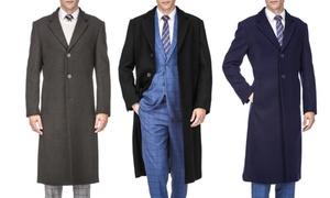 Braveman Men's Wool-Blend Overcoat