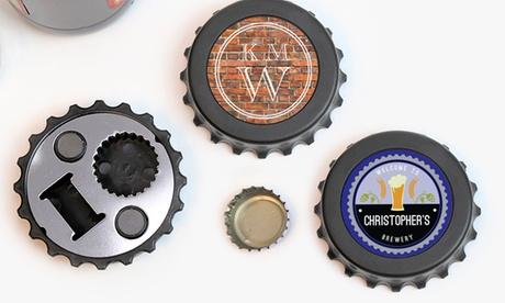 Custom Magnetic Bottle-Cap-Shaped Bottle Opener from Monogram Online photo
