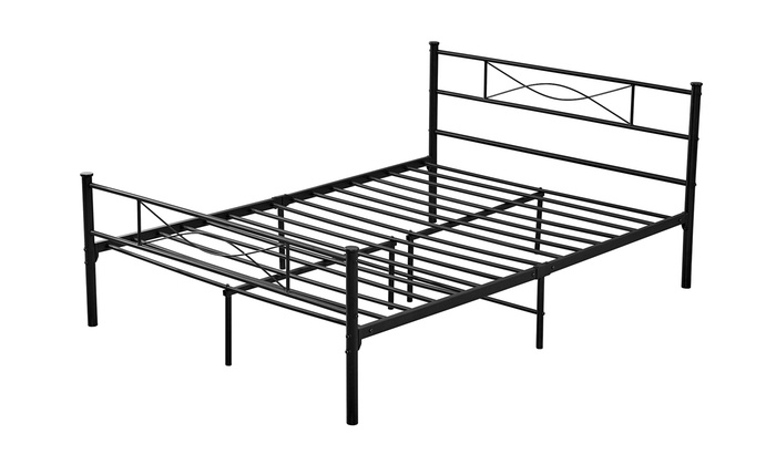Awe Inspiring Metal Bed Frame Groupon Onthecornerstone Fun Painted Chair Ideas Images Onthecornerstoneorg