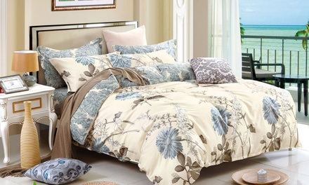for a Cotton Quilt Cover Set in Floral Designs Don't Pay up to $129