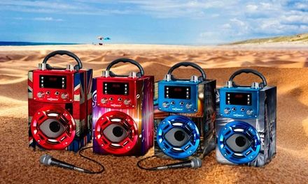 Altavoz bluetooth con karaoke y micrófono disponible en varios diseños a elegir