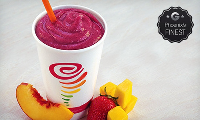 Jamba Juice - Multiple Locations: $5 for Two Original-Size Smoothies at Jamba Juice ($9.90 Value)