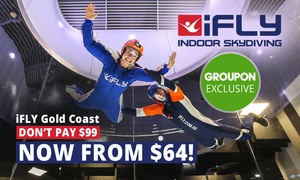 iFLY Gold Coast: Indoor Skydiving Package for One ($64) or Two ($109) at iFLY Gold Coast (Save Up to 45%)