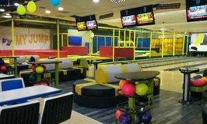 bowling & my jump: My Jump, פארק הטרמפולינות החדש בקניון רננים: כניסה החל מ-30 ₪, אופציה לכרטיס כניסה הכולל משחק באולינג. תקף 7 ימים בשבוע