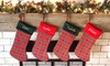 Up to 86% Off Personalized Plaid Christmas Stockings