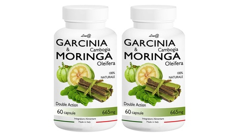 60 o 120 cápsulas de garcinia cambogia y moringa oleifera Line@Diet