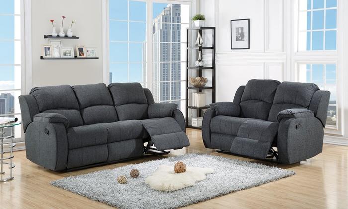Manhattan Recliner 3 2 Sofa Set Groupon