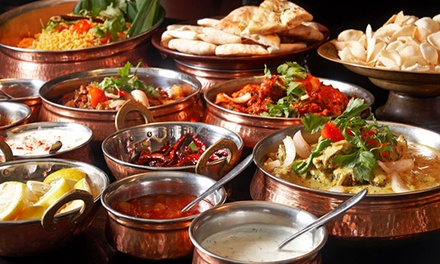 Three-Course Indian Meal with Rice or Naan and Side Dish for Two or Four at Jewel in the Crown (Up to 63% Off)