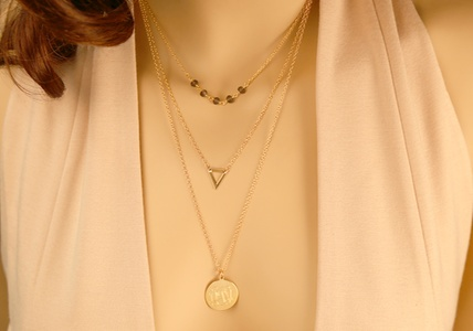 Monogram Online Custom Layered Disc Necklace