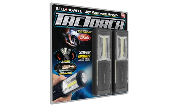 Bell+Howell TacTorch Super Bright Handheld LED Flashlight (2-Pack), As Seen  on TV