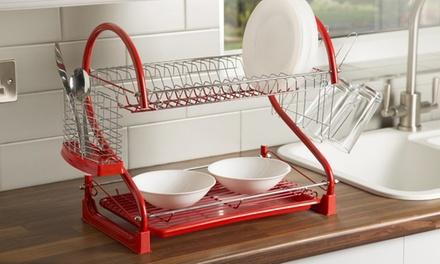 Swan Two-Tier S-Shape Dish Rack