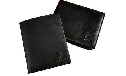 One £9.95, Two £14.99 or Four £19.99 Monopol Men's Genuine Leather Wallets