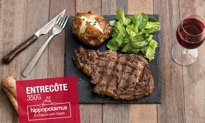 Venez redécouvrir Hippopotamus: Ouest :Chez Hippopotamus, pour 1€ seulement, un plat acheté = un plat au choix offert*