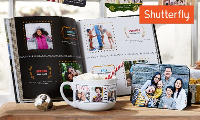 Shutterfly: Up to 50% Off Custom Photo Products from Shutterfly. Three Options Available.