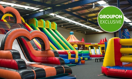 Indoor Play Area Entry: 1 ($10), 2 ($20) or 4 People ($40) at Bounce & Beyond (Up to $64 Value)