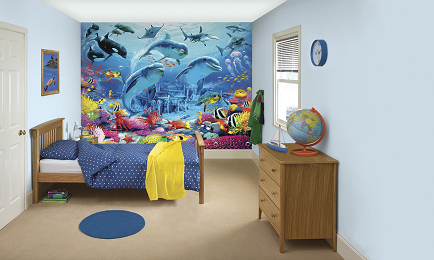 Groupon Wall Mural Dulux Kids Bedroom In A Box Groupon Goods