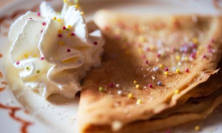 Desayuno o merienda para 2 o 4 personas con crepes dulces o sándwich y bebida desde 5,95 € en El Mono Vintage Bar
