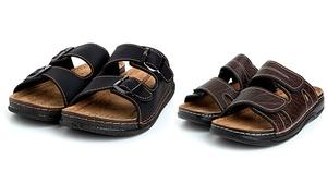 Sandales double sangle pour homme