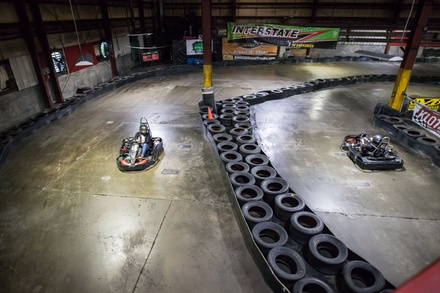 Two Go-Kart Races for Adult at Traxx Indoor Raceway (Up to 32% Off). Two Options Available.