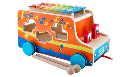 Wooden Bus Toy with Xylophone