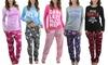 Women's Fleece-Lined Plush Pajama Set (2-Piece)