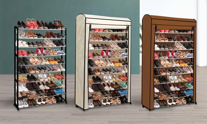 Schoenenrek voor 50 paar groupon - Meuble rangement chaussures paires ...