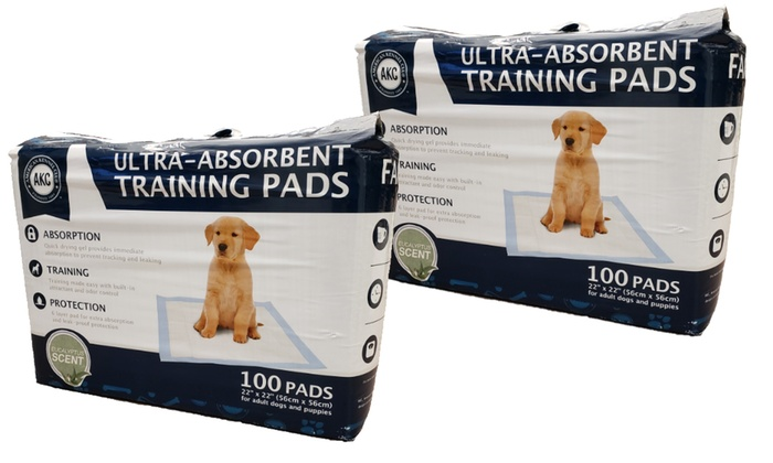 Up To 73% Off on AKC Puppy Training Pads | Groupon Goods
