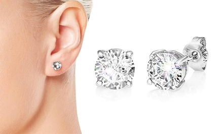 One or Two Pairs of Philip Jones Round Earrings with Crystals from Swarovski®