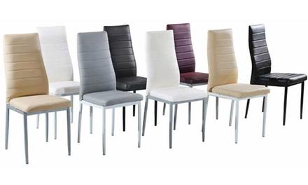 Set di 4 sedie diva in diversi colori a 99 72 di sconto - Sedie diva groupon recensioni ...