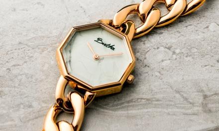 c2fe69987eba Reloj de mano Bertha Ethel para mujer con caja y correa de acero inoxidable  316L